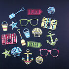 Seaside Holiday Die Cut Shapes - Assorted Colours in sets of 18