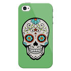 Sugar Skull Stars Snap on Hard Protective iPhone 4 Case / Cover