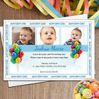 Personalised Boys 1st First Birthday Party PHOTO Invitations ~ N16