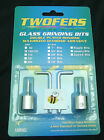 """Grinder Bit Diamond 1/8"""" Twofers 2 Pack Stained Glass Fits MOST Inland Glastar"""