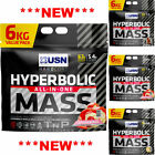 USN Hyperbolic Mass 6kg Muscle Weight Gainer Builder 6000g  - All Flavours