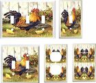 COUNTRY ROOSTER HEN AND CHICKS  LIGHT SWITCH COVER PLATE   U PICK PLATE SIZE