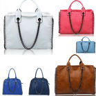 Women's Celeb Style Tote Bags Faux Leather Shoulder Handbags Top Handle Bag Nice