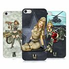 HEAD CASE DESIGNS ARMY PIN-UP CHIC HARD BACK CASE FOR APPLE iPHONE 5 5S SE
