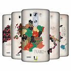 HEAD CASE DESIGNS PATTERNED MAPS HARD BACK CASE FOR LG G3