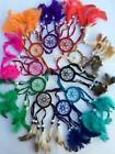 TRADITIONAL SUEDE DREAMCATCHER 5CM IN VARIOUS COLOURS BRAND NEW
