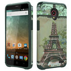 For Zte Avid Plus HARD Hybrid Rubber Silicone Case Phone Cover +Screen Protector