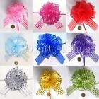 1/2/5/10pcs 50mm Organza Ribbon Pull Bows Wedding Car Decoration Gift Wrap