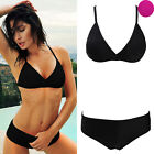 Rare Womens Bikini Set Swimwear Padded Bra No-Rims Suit Push-up Bathing Suit