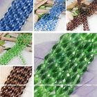 10x15mm Colors Oval Crystal Glass Faceted Loose Bead Charm Jewelry Finding 14""