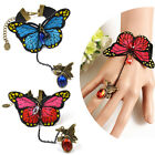 Gothic Butterfly Slave Chain Link Finger Ring Bangle Hand Harness Bracelet New