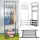 New Metal Steel Pipe Stands Coat Clothes Shoes Hat Umbrella Rack Hanger Hooks