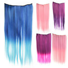 Clip In On Long Straight Hair Extension Synthetic Fiber Hairpiece Hot