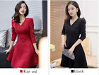 Fashion women's clothing Spring big size v-neck, A-line long sleeves Dresses