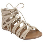 Top Moda CD32 Women's Studs Strappy Gladiator Style Lace Up Sandals New In Box