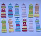 Lighthouse Die Cut Shapes - Sets of 12 in Assorted Designs