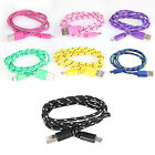 1M/3FT Braided Micro USB Data Sync Charger Cable For Samsung LG HTC Sony Huawe