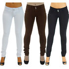 Lady Women Casual Skinny Leg Jeggings Pencil Pants Stretchy Jeans Trousers