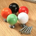 Round Ceramic Cabinet Knobs Pull Handle For Furniture Cupboards Kitchen Drawer