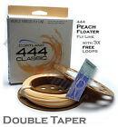Cortland Classic 444 DOUBLE TAPER PEACH FLOATING Fly Line + 3x FREE Leader Loops