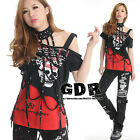 Freeship X LOLITA GOTHIC LACE SHIRT CUTE PUNK 71201 RED S-M