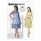 Butterick 6323 Sewing Pattern to MAKE' Dress off the Shoulder w/Crossgrain Skirt