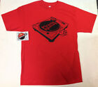 Official Piranha Records Turntable Red Shirt 2XL-3XL Screen Printed URBAN CON