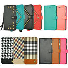 For Apple iPhone 8 7 6S 6 Plus Leather Wallet Case Card Holder Flip Stand Cover