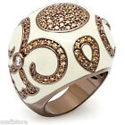 Champagne Stones Coffee Gold EP Paloma Le Chocolat Ladies Ring