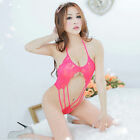 Sexy Lingerie Womens Underwear Babydoll Lace Dress Sleepwear G-string Nightwear
