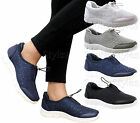 Ladies Women Flat Running Diamante Skater Fitness Gym Sports Trainers Shoes Size