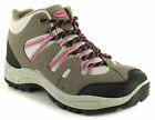New Ladies/Womens Grey/Fuchsia X-Hiking Faux Suede & Mesh Hiking Boots UK SIZES