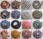 Wholesale Matte Natural Stone Gemstone Round Spacer Loose Beads 6MM 8MM 10MM
