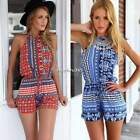 2015 Latest Sexy Women Halter Neck Jumpsuit Clubwear Playsuit Romper Shorts N4U8