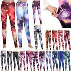 Women's Ladies Galaxy Jeggings Leggings Pants Stretchy Long Pencil Trousers A7B7