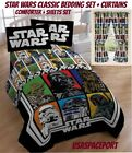 STAR WARS Classic COMFORTER +SHEETS +CURTAINS SET Bed in a Bag Room Darth Vader