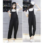 New Women College Jumpsuit Harem Pants Casual Overalls Loose Suspender Trousers