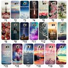 Soft TPU Clear Case Cover For Samsung S7 S7 edge Nature Scenery Saying Pattern