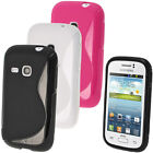 S Line TPU Gel Skin Case Cover for Samsung Galaxy Young S6310 + Screen Protector