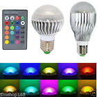 E27 15/10 W RGB LED Light Color Changing Lamp Bulb 85-265V With Remote Control