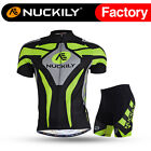 005 Nuckily Men's Mountain Bike Sports Short Sleeves Cycling Jersey+Shorts Set