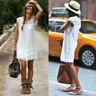 Sexy Womens Dress Floral Lace O Neck Mini Dress Beach Sundress Party Club T1S4
