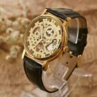 Mens Womens Luxury Mechanical Wrist Watch Stainless Steel Case Leather Band B3L2