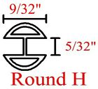 9/32 Round H RH Zinc Came Channel for Stained Glass - 24 feet