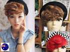 Women Retro Party Natural Clip on Bang Front Fringe only Hair Curl Wigs Piece