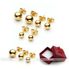 Classic Stainless Steel Golden Ball Ear Helix Tragus Cartilage Stud Earrings