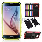 Hybrid Rugged Rubber Hard Case Cover Skin Stand For Samsung Galaxy S6 G9200 New
