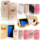 Flip Wallet Glitter Bling PU Leather Case Cover For Apple iPhone&Samsung Galaxy