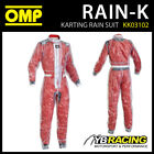 KK03102 OMP KART RAIN-K WET WEATHER KARTING OVER SUIT - CLEAR PLASTIC PVC