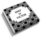 50 Personalised SHELL PATTERN Art Deco, 1920s, 30s Wedding Favour Chocolates